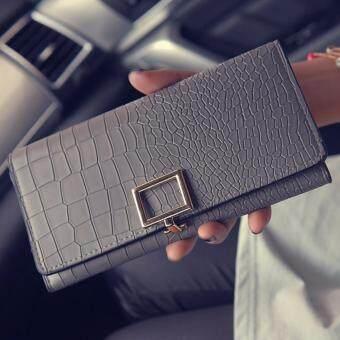 B'nana Beauty กระเป๋าสตางค์ใบยาว กระเป๋าเงินผู้หญิง กระเป๋าตังตามวันเกิด กระเป๋าสตางค์น่ารัก กระเป๋าตังสวยๆ รุ่น GC-06 (สีเทา)