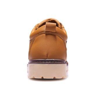 ธุรกิจสบาย ๆ รองเท้าผู้ชาย LBW ผูกเชือกรองเท้า (สีน้ำตาล)