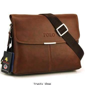 MATTEO กระเป๋าหนัง กระเป๋าสะพาย รุ่น Videng Polo 0399 - สีน้ำตาล