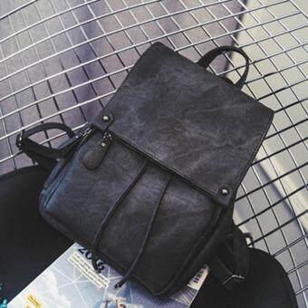 Marverlous กระเป๋า กระเป๋าเป้ กระเป๋าเป้สะพายหลัง Denim Backpack B103-สีดำ