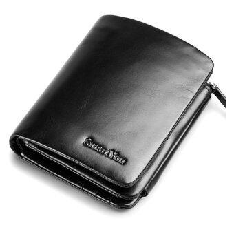 Smart You กระเป๋าสตางค์ผู้ชายหนังแท้ รุ่น WL-08-1 - สีดำ