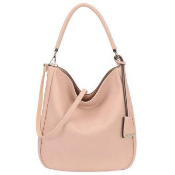 DAVIDJONES Women Synthetic Leather Shoulder Bag Hobo Bag กระเป๋า - intl