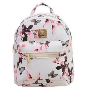 Premium Bag กระเป๋าเป้สะพายหลัง กระเป๋าเป้เกาหลี รุ่น PB013(สีขาว)