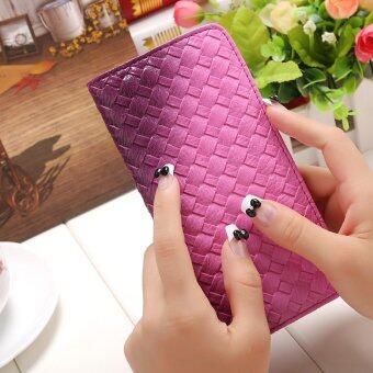 ลาวีสานสำหรับกระเป๋าสตางค์กระเป๋าคลัตช์มือผอม ๆ ข้าวเปลี่ยนเงิน (สีม่วง)