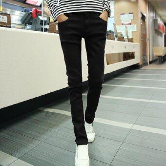 Mod กางเกงขายาว ขากระบอกเล็ก ผู้ชาย (สีดำ) รุ่น 016