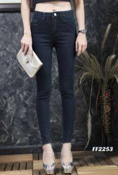 Platinum Fashion กางเกงยีนส์ขายาวเอวสูง ทรงสกินนี่ รุ่นFF2253