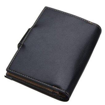 กระเป๋าสตางค์ยาวซิปคนโทรศัพท์มือถือบัตรเครดิตยึดสีดำ