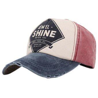 ลายผ้าสำหรับบุรุษ และหมวกเบสบอลสี Snapback สีน้ำเงิน