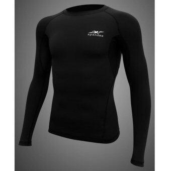 Spandex เสื้อรัดกล้ามเนื้อแขนยาว รุ่น S001 สีดำ S