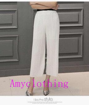 Amyclothing กางเกงขาบาน A007( สีขาว)