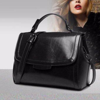 Good things For u กระเป๋าสะพายข้างผู้หญิง หนัง PU เกรดพรีเมี่ยม รุ่น 0032HB - สีดำ