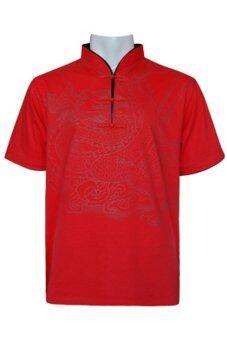 Princess of asia เสื้อเชิ้ตจีนลายมังกร (สีแดง)