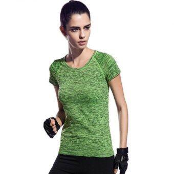PBx - Exercise Lady T Shirt -เสื้อออกกำลังกาย ฟิตเนท ปั่นจักรยาน พิลาทิสสำหรับผู้หญิง สีเขียว