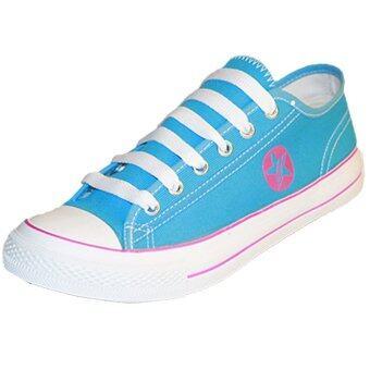 Gold city รองเท้าผ้าใบแฟชั่นโกลด์ซิตี้ Super Zapp Linear GC-1255 สีฟ้า/ชมพู