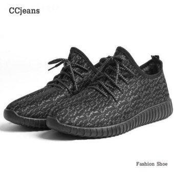 Ccjeans รองเท้า รองเท้าผ้าใบใส่ได้ทั้งผู้หญิงผู้ชาย รุ่น A009 - สีดำ