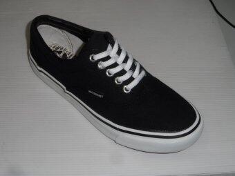 Mashare รองเท้าผ้าใบแฟชั่น มาแชร์ผูกเชือก ทรง VAN V4 สีดำ