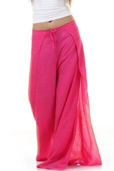 Princess of Asia กางเกงผ่าข้าง กางเกงแบบผูก กางเกงพัน (สีชมพู)