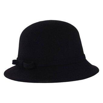 Goodtimeshops หมวกปานามา mini cloche - black