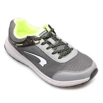 KRONOS MEN รองเท้าผ้าใบ ผู้ชาย รุ่น CASUAL - KFW6232GY (BLACK/GREY/GREEN)(EU:40)