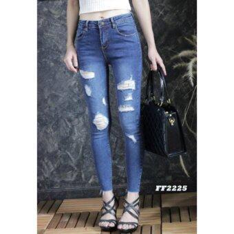 platinum fashion กางเกงยีนส์ขายาว สินค้านำเข้า เนื้อผ้า สีสวย รุ่นPFF2225
