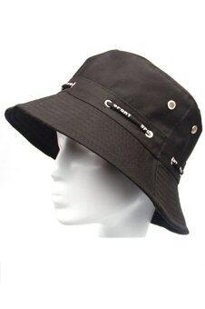 เพศผู้ใหญ่เก็บหมวกผ้าหมวกป้องกันแสงแดดสีดำ