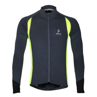 รถจักรยานการขี่จักรยานจักรยานวิ่งหายใจเสื้อแจ็กเก็ตเสื้อนอก Windcoat (สีดำ)
