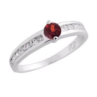 Trendy Diamond แหวนเงินแท้ประดับพลอยโกเมน รุ่น TSR160-GN - Red
