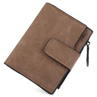 MATTEO กระเป๋าเงิน กระเป๋าสตางค์ ผู้หญิง 3 ชั้น Friend (สีน้ำตาล)
