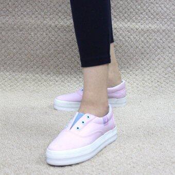 Alisa Shoes รองเท้าผ้าใบผู้หญิงแฟชั่น รุ่น AS-15 Pink