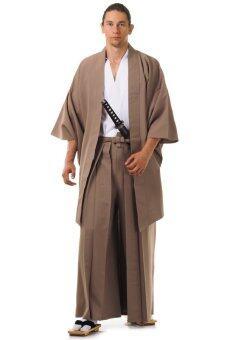 Princess of asia ชุดฮากามะพร้อมเสื้อคลุมฮาโอริ (สีขาว-กาแฟ)