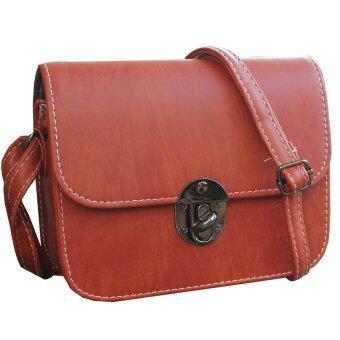Peimm Modello กระเป๋าสะพาย แฟชั่นเกาหลี (สีน้ำตาล)