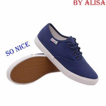 Alisa Shoes รองเท้าผ้าใบผู้หญิง รุ่น 2655 Navy