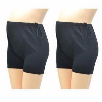 IAMMOM กางเกงซับใน กางเกงซับในคนท้อง แบบปรับเอว สีดำ แพ็คคู่