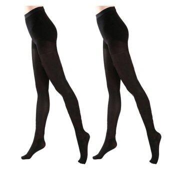MEIERSI ถุงน่องรักษาเส้นเลือดขอด ขาเรียว รุ่น Be Health 40 Den แพ็คคู่ สีดำ