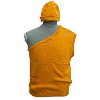 Dsox อังสะและหมวกพระ - สีเหลืองไพร
