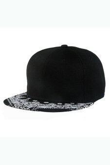 ลายสีดำหมวกเบสบอล Snapback ปรับได้สีดำ
