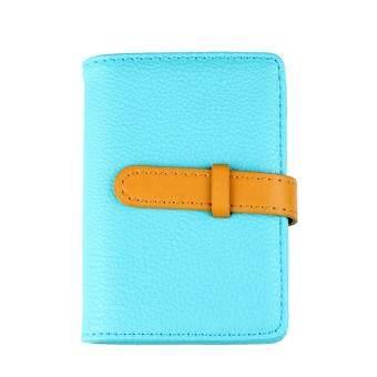 Marino กระเป๋านามบัตร กระเป๋าหนังใส่นามบัตร รุ่น H001 - สีฟ้า