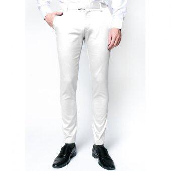 B&B menswear กางเกงชิโน่ ขายาว สีขาว Chino Pant (สีขาว)