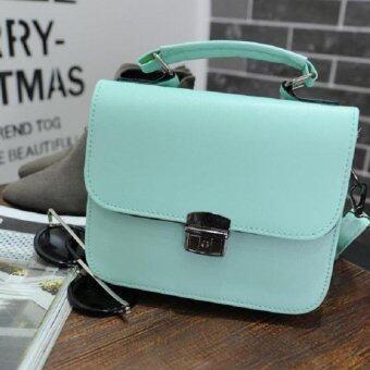 Open กระเป๋าแฟชั่นสตรี ใบจิ๋ว สลักล็อค รุ่น 306 (สีเขียว) มีหูหิ้วพร้อมสาย