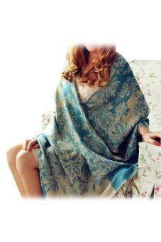 แฟชั่นผู้หญิง Toprank Pashmina ผ้าพันคอผ้าคลุมไหล่ผ้าพันคอผ้าห่มหนาว Pashmina ผ้าพันคอ