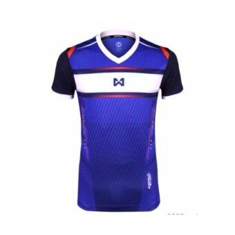 WARRIX SPORT เสื้อฟุตบอลพิมพ์ลาย WA-1541 (สีน้ำเงิน)