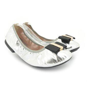 MARIE CLAIRE รองเท้าแฟชั่น ผู้หญิง ส้นแบน BALLERINA/CASUAL สีเงิน รหัส 5511696