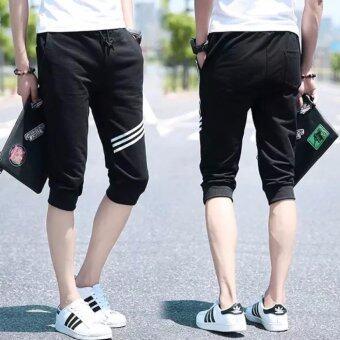 Save กางเกงขา3ส่วน ดีไซน์สวย โดดเด่น (สีดำ) รุ่น 587