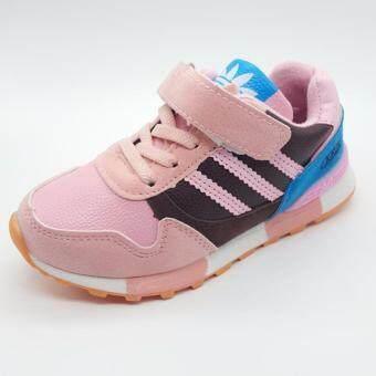Alice Shoe รองเท้าผ้าใบ แฟชั่นเด็กผู้ชาย และ ผู้หญิง รุ่น SKL090-P (สีชมพู)
