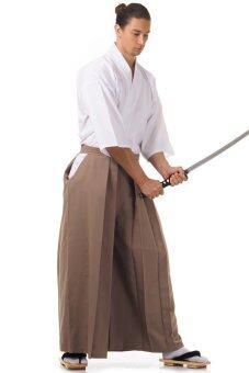 Princess of asia ชุดฮากามะ (สีกาแฟ-ขาว)