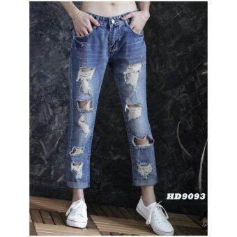 platinum fashion กางเกงยีนส์ขายาว สินค้านำเข้า เนื้อผ้า สีสวย รุ่นPHD9093