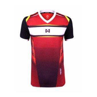 WARRIX SPORT เสื้อฟุตบอลพิมพ์ลาย WA-1541 (สีแดง)