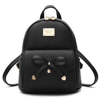 Little Bag กระเป๋าเป้เกาหลี กระเป๋าสะพายหลังผู้หญิง กระเป๋าแฟชั่น backpack women รุ่น LP-148(สีดำ)