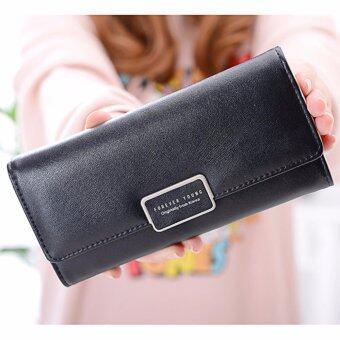 B'nana Beauty กระเป๋าสตางค์ใบยาว กระเป๋าเงินผู้หญิง กระเป๋าตังตามวันเกิด กระเป๋าสตางค์น่ารัก กระเป๋าตังสวยๆ รุ่น GC-07 (สีดำ)