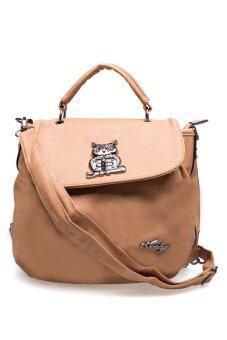 กระเป๋าถือ กระเป๋าสะพาย กระเป๋าเป้ ผู้หญิง รุ่น.อาวล์แบ็ค (สีครีม)